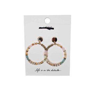 🆕️ Ann Taylor Loft Beaded Hoop Earrings